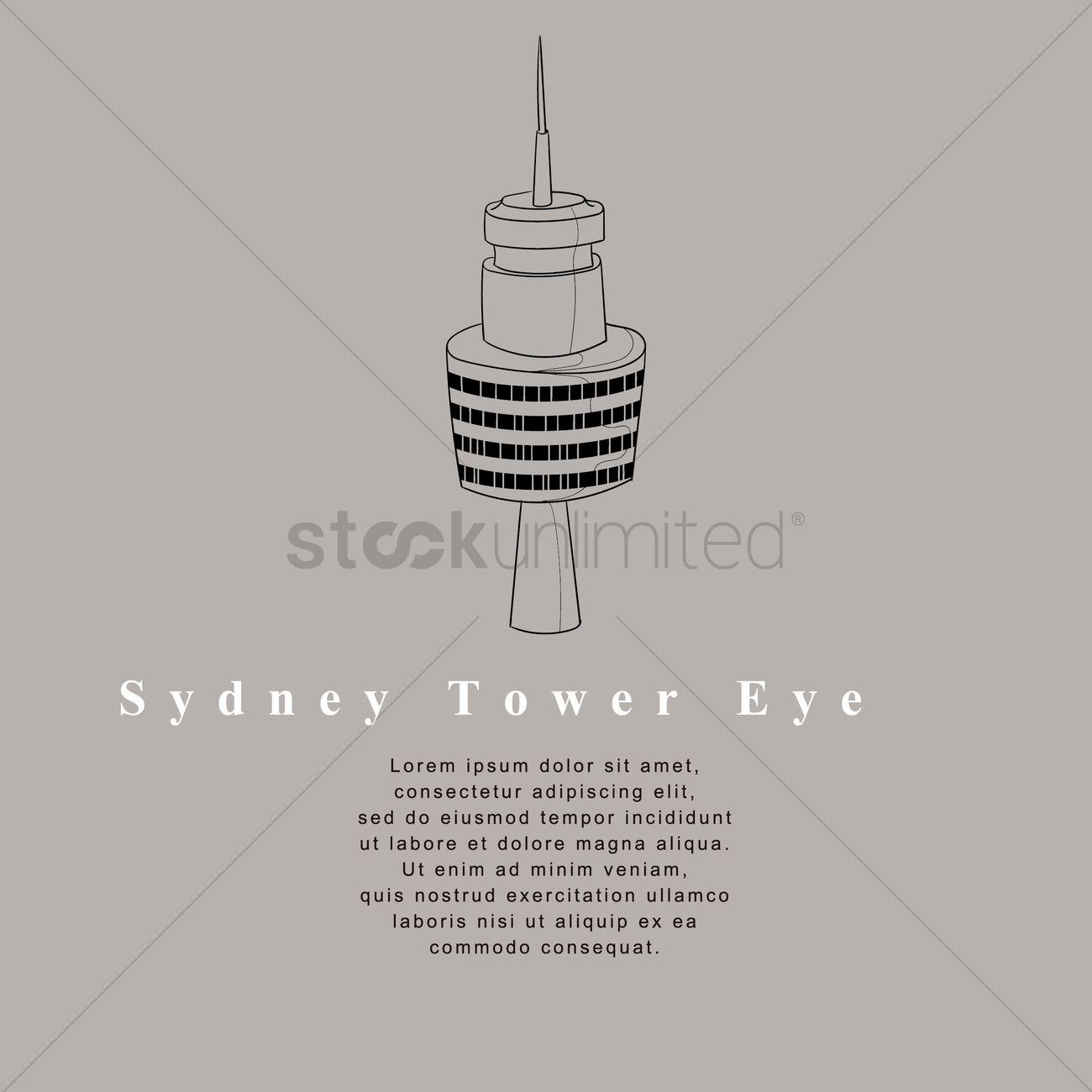 Sydney tower eye design Vector Image - 1952610 | StockUnlimited