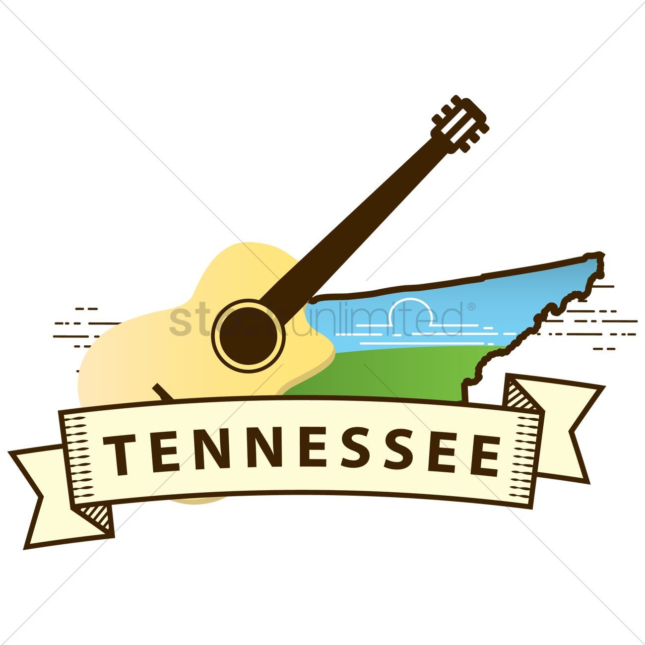 Tennessee State Map Vector Image 1564618 Stockunlimited
