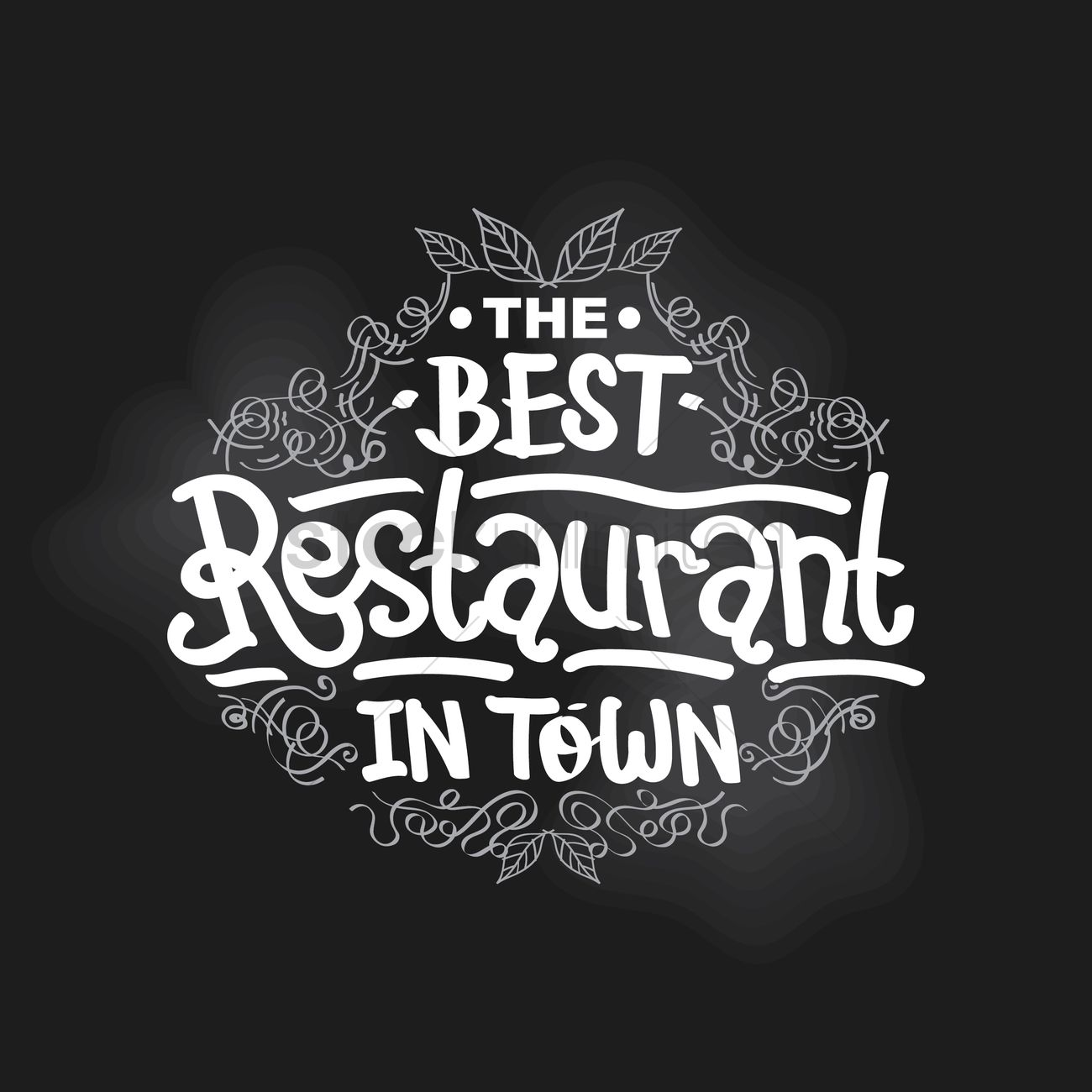 The Best Restaurant In Town Vector Graphic
