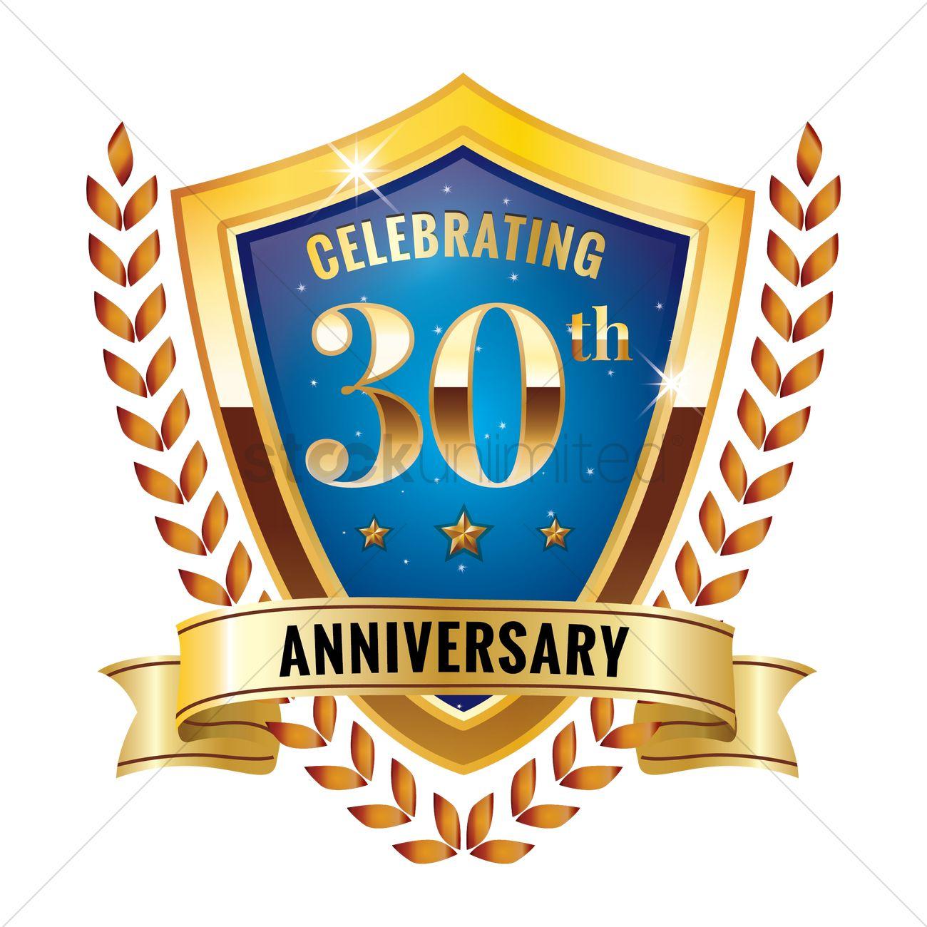 Thirty Years Anniversary Design Vector Image 1825262 Stockunlimited
