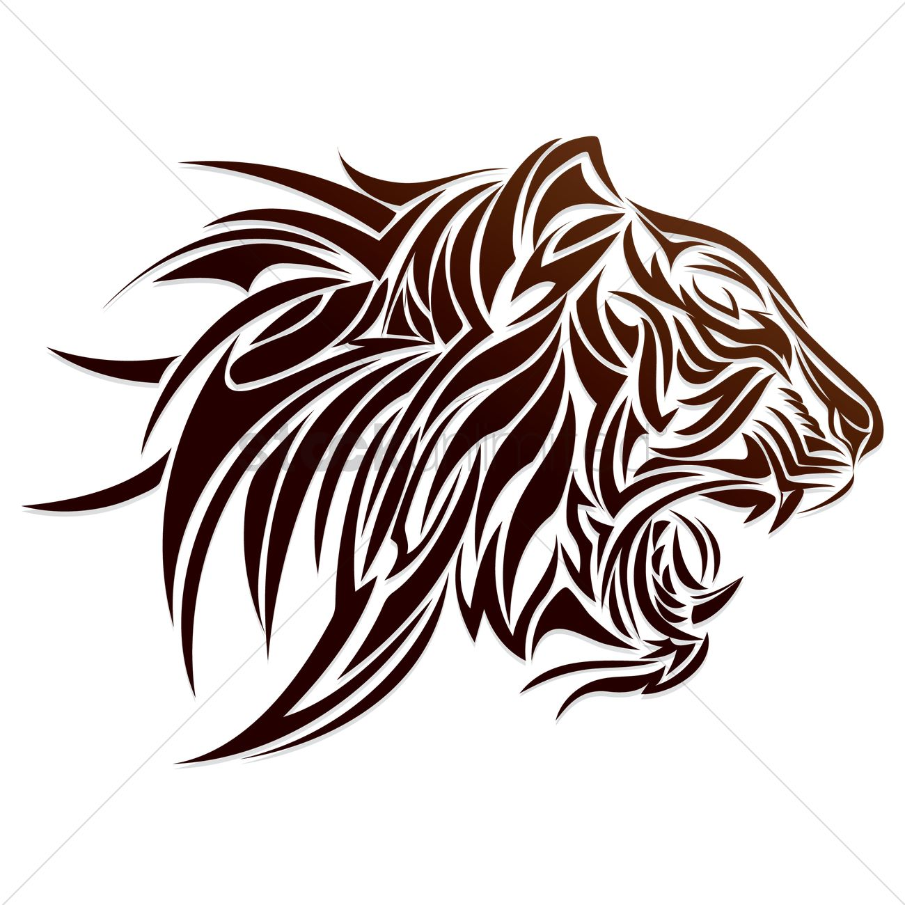 8423aab3b Free Tiger head tattoo Vector Image - 1452762 | StockUnlimited