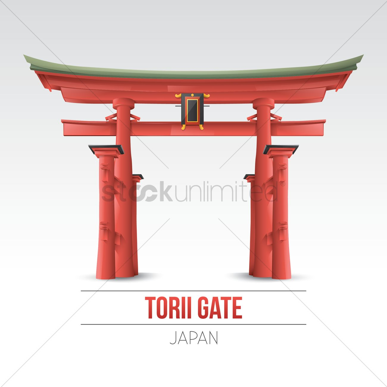 Torii Gate Wallpaper Vector Image 1603002 Stockunlimited