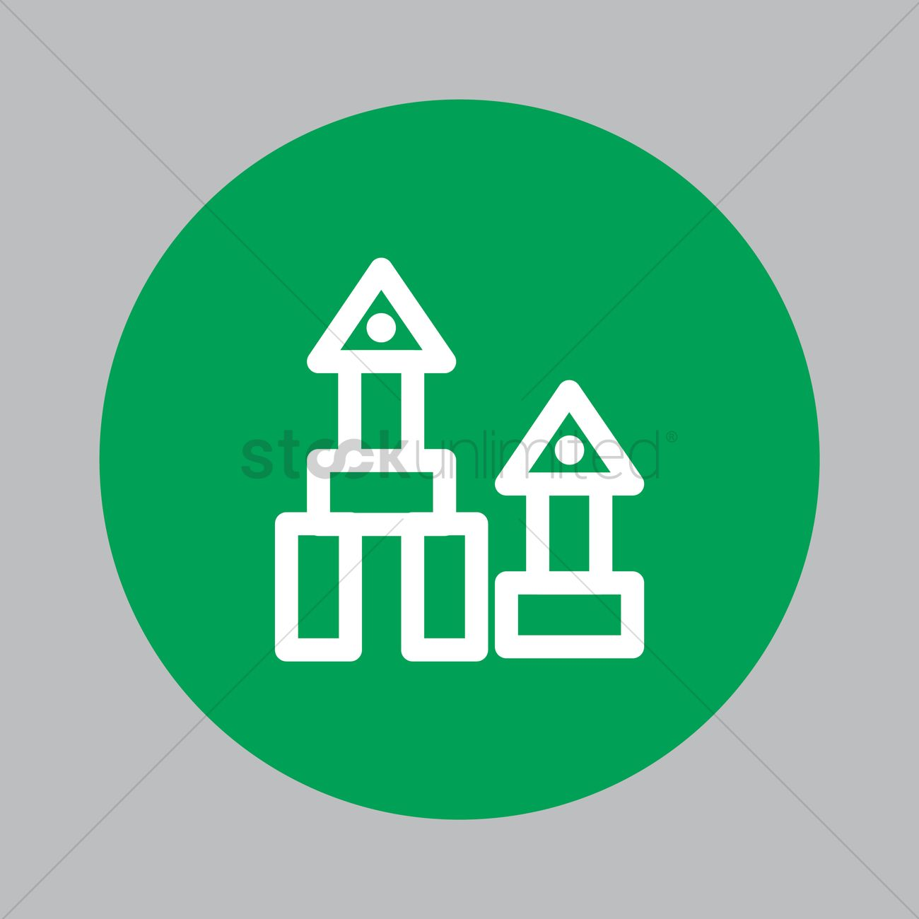 Toy house Vector Image - 1620914   StockUnlimited
