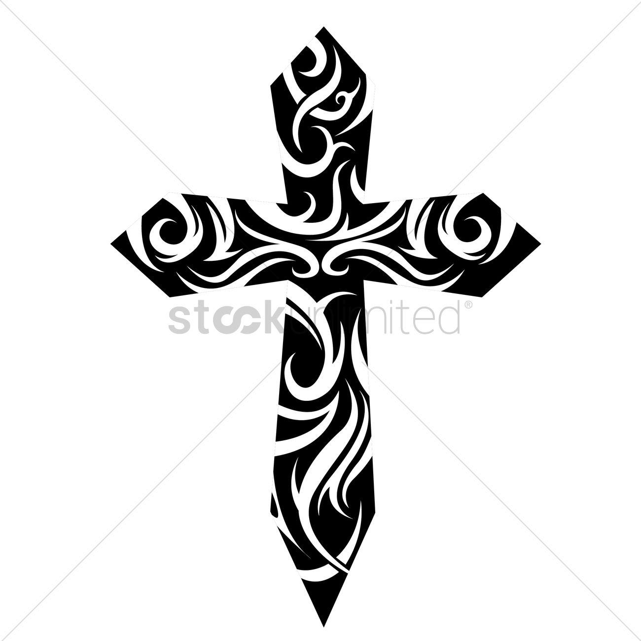 tribal cross tattoo vector image 1524206 stockunlimited. Black Bedroom Furniture Sets. Home Design Ideas