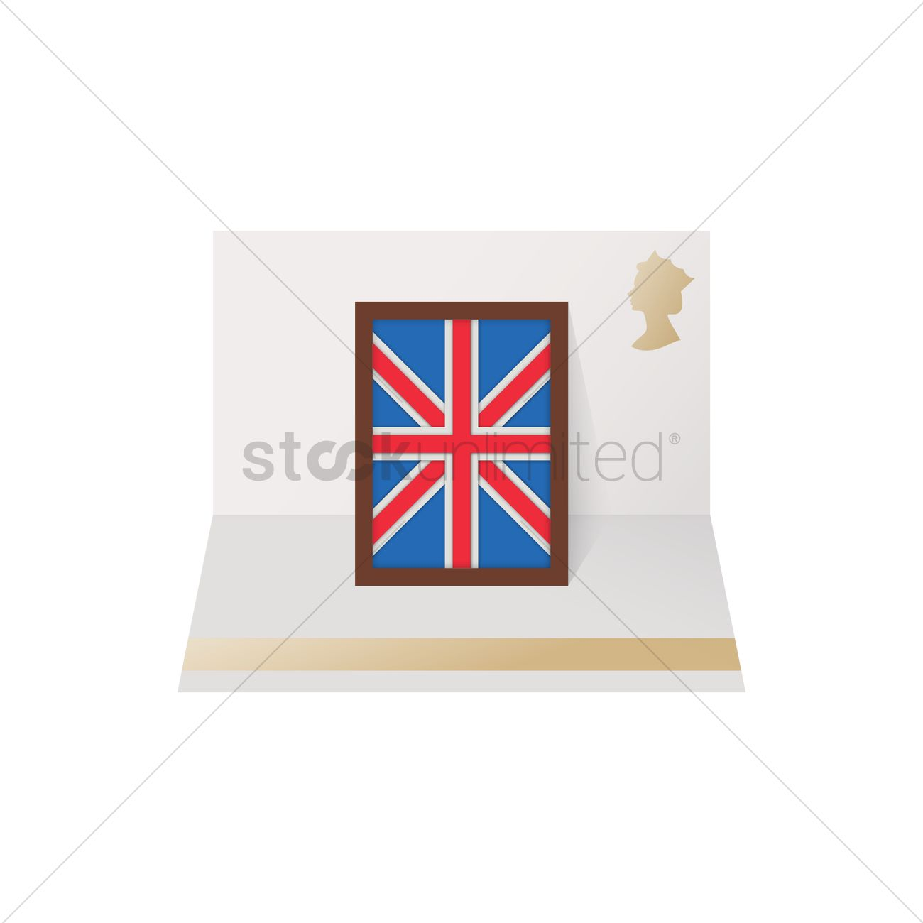 Uk flag frame fold out card Vector Image - 1573562 | StockUnlimited