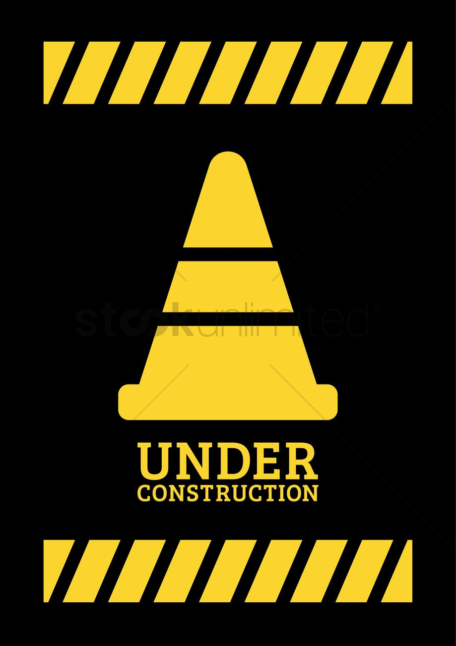Under Construction Template Design Vector Image 2009542