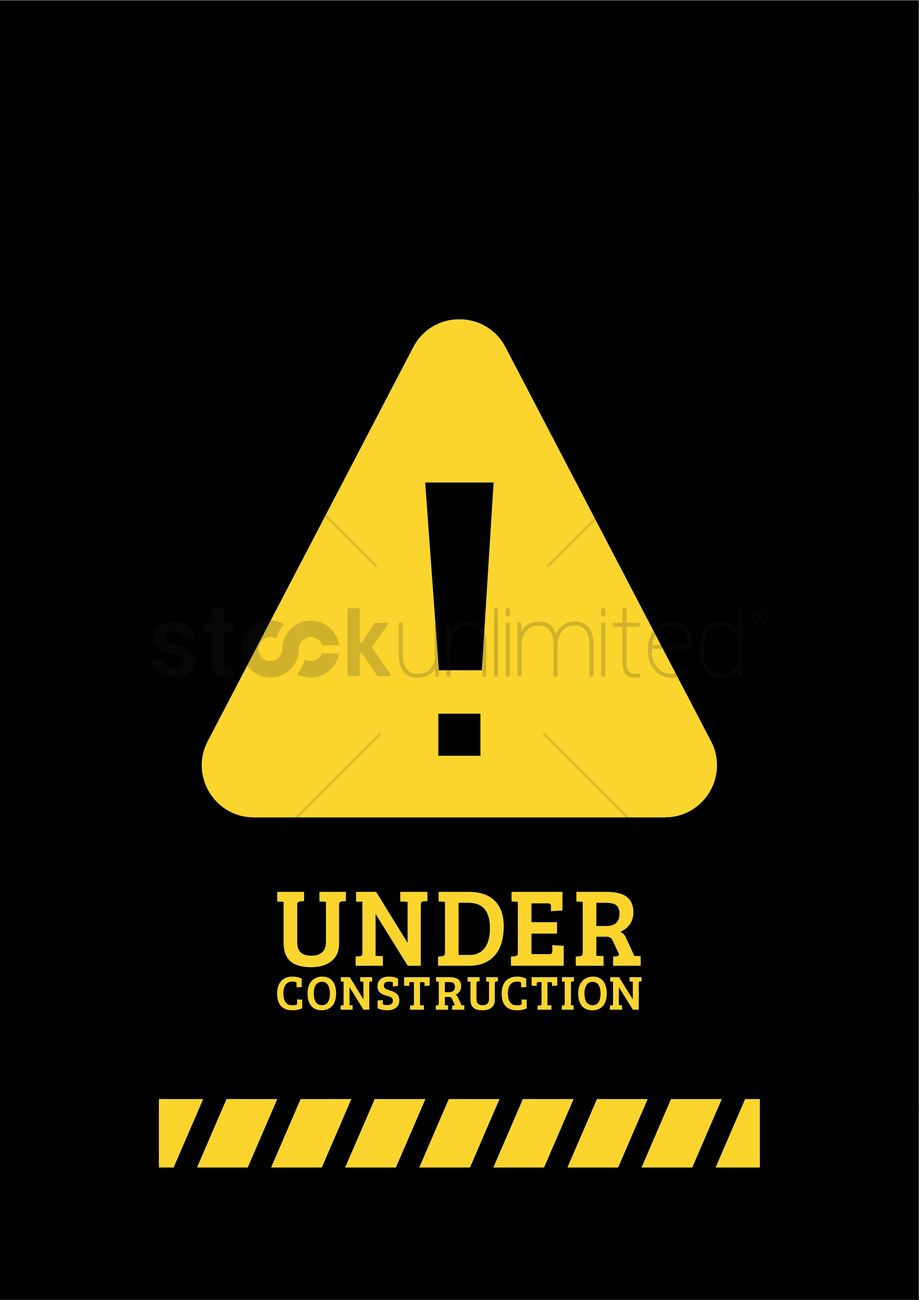 Under Construction Template Design Vector Image 2009546