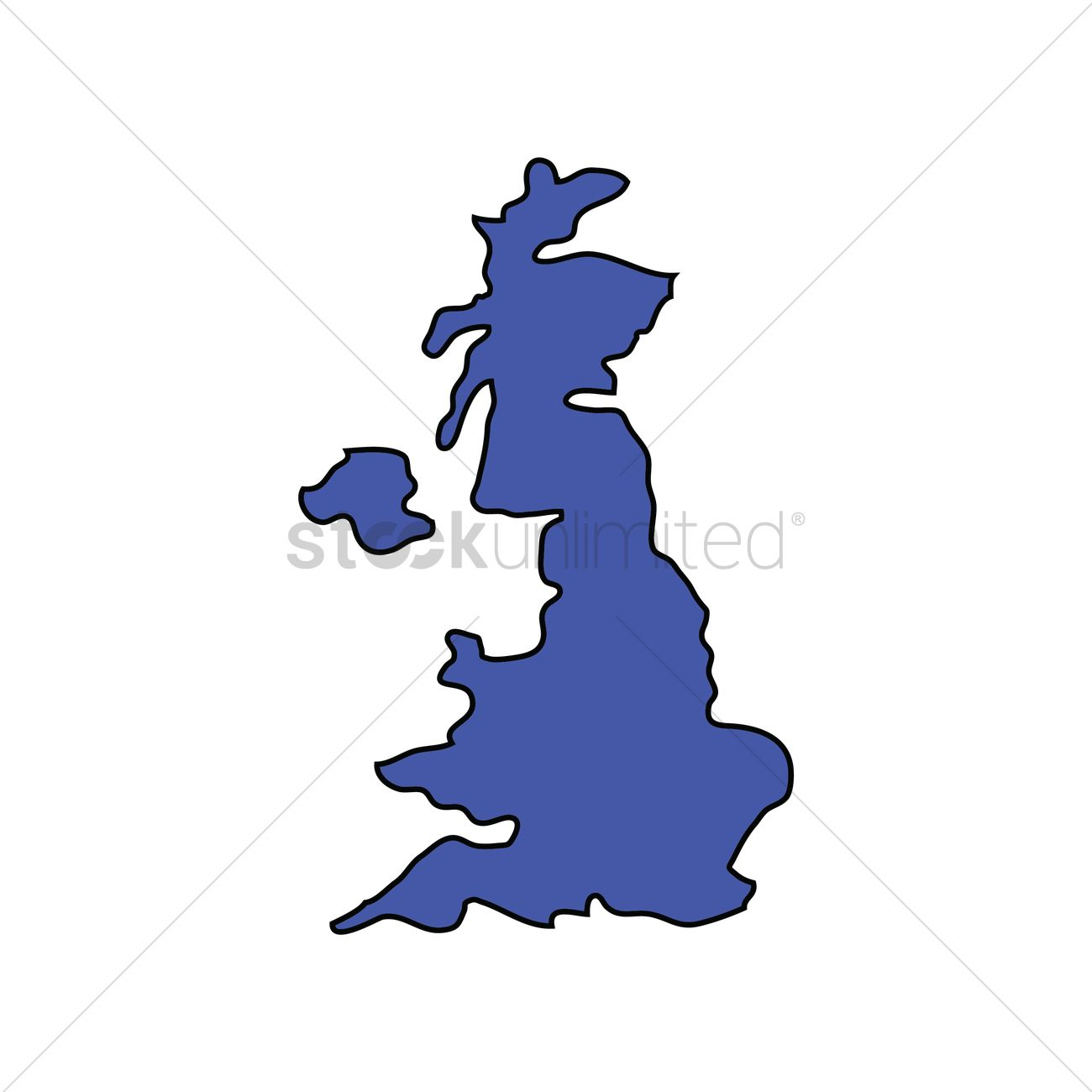 United Kingdom Of Great Britain And Northern Ireland Map Vector - United kingdom map vector