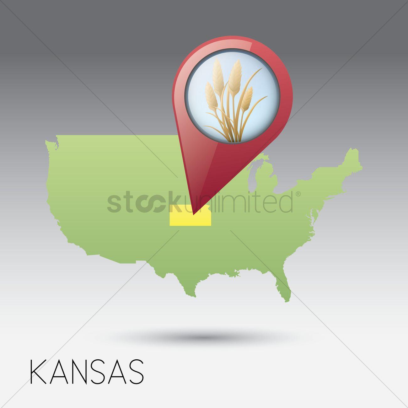 Usa map with kansas state Vector Image - 1536206 | StockUnlimited Kansas In Usa Map on usa map in miami, statue of liberty in kansas, usa map kansas city, zip code map in kansas, animals in kansas, dinosaurs in kansas, weather in kansas,
