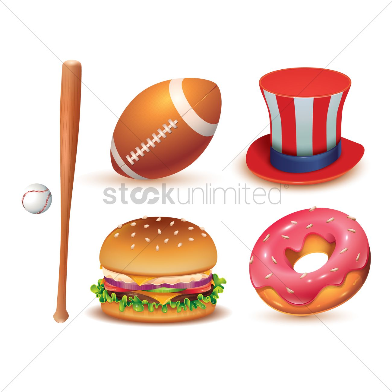 Usa Symbols Collection Vector Image 1492234 Stockunlimited