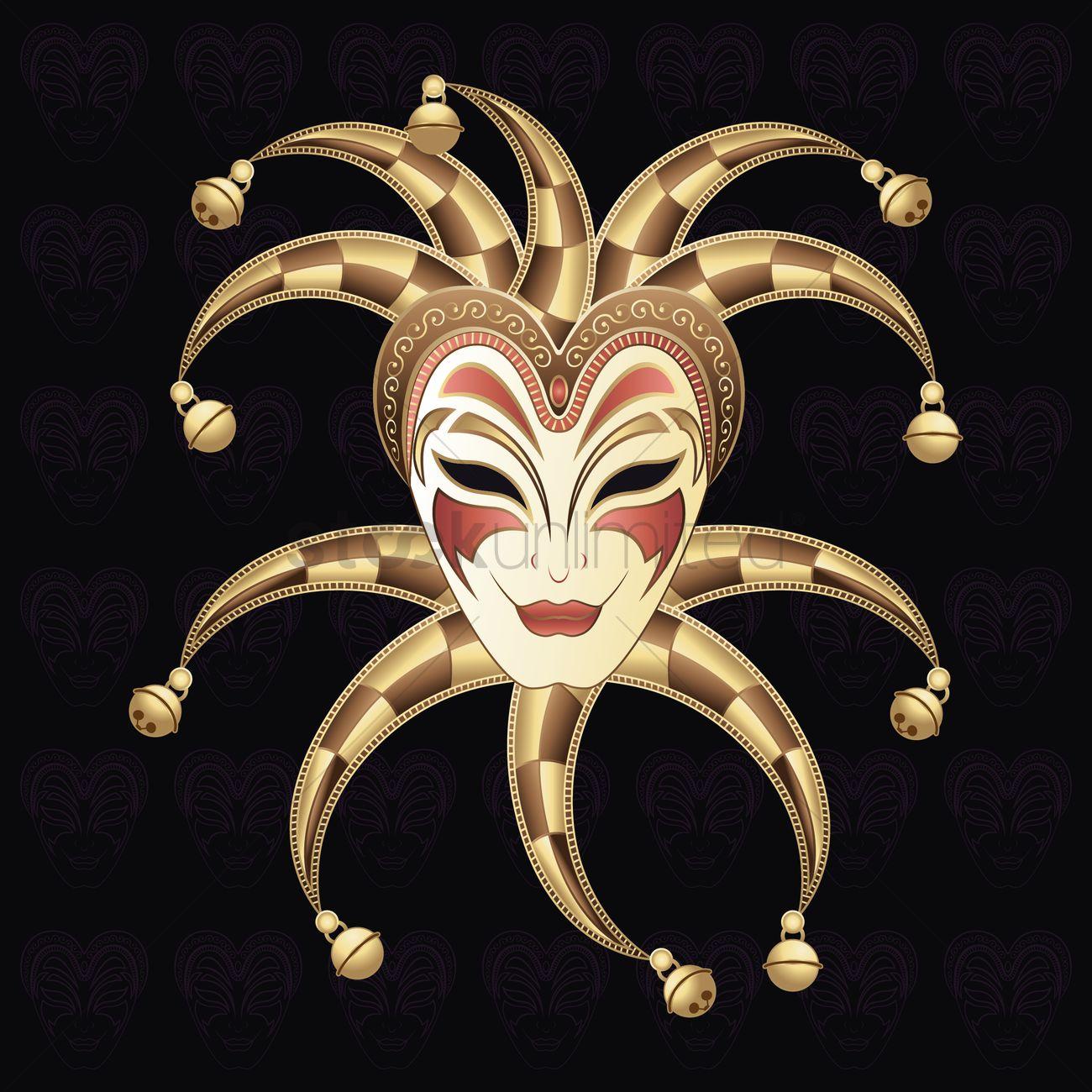 Venetian jester mask Vector Image - 1508830 | StockUnlimited