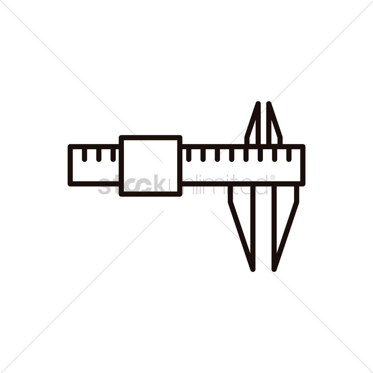 Vernier Calipers Vector Image 1633954 Stockunlimited Caliper Diagram Graphic