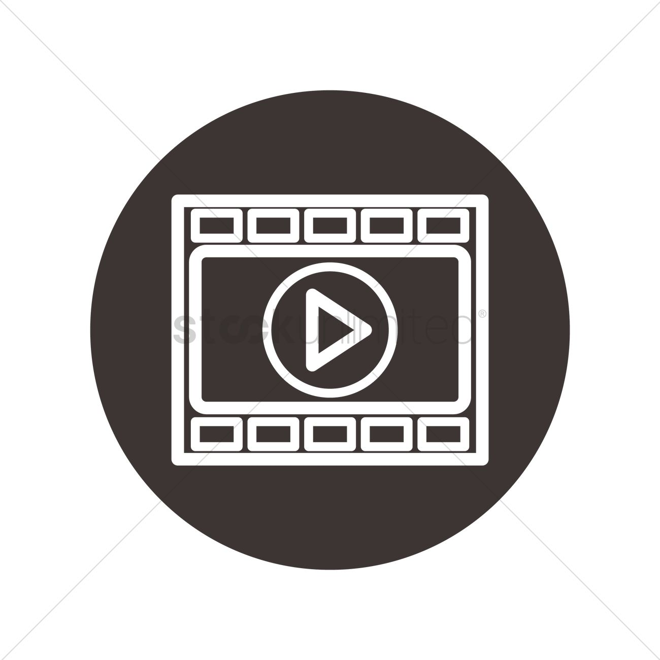 Video Play Icon Vector Image 1977754 Stockunlimited