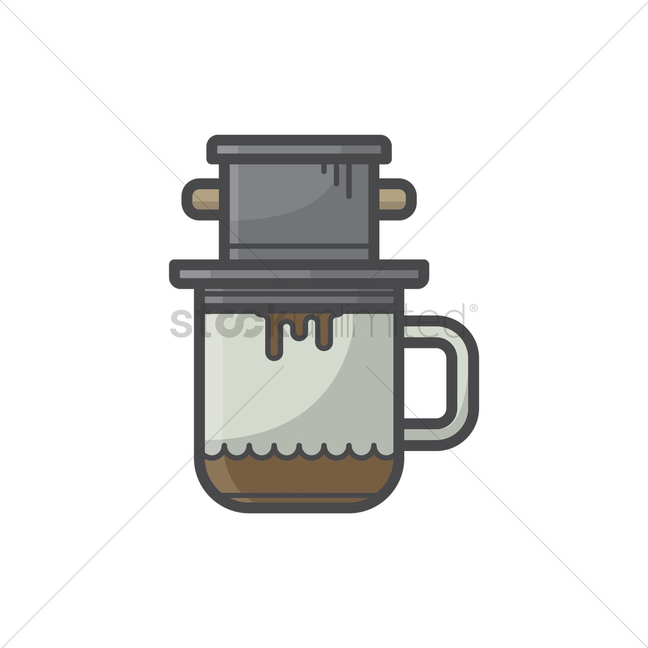 Vietnamese Coffee Vector Image 1533030 Stockunlimited