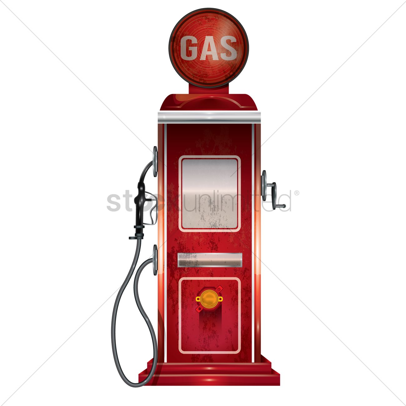 Vintage gas pump Vector Image - 1826522 | StockUnlimited