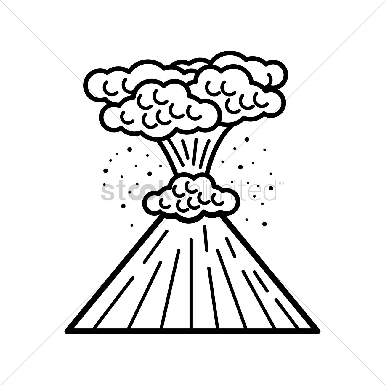 Volcanic eruption vector image 1999418 stockunlimited volcanic eruption vector graphic pronofoot35fo Images