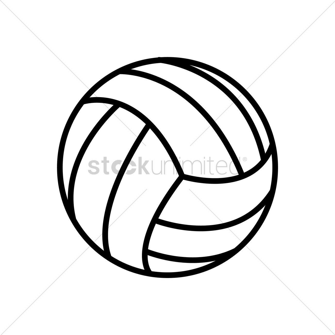 volleyball vector image 1547574 stockunlimited