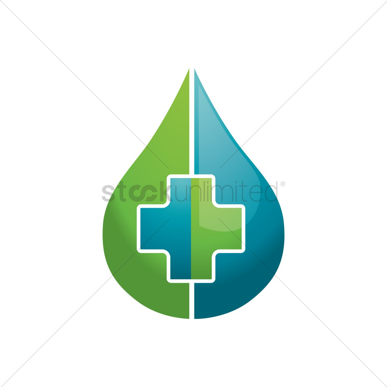 Water Drop With Plus Symbol Vector Image 1823494 Stockunlimited