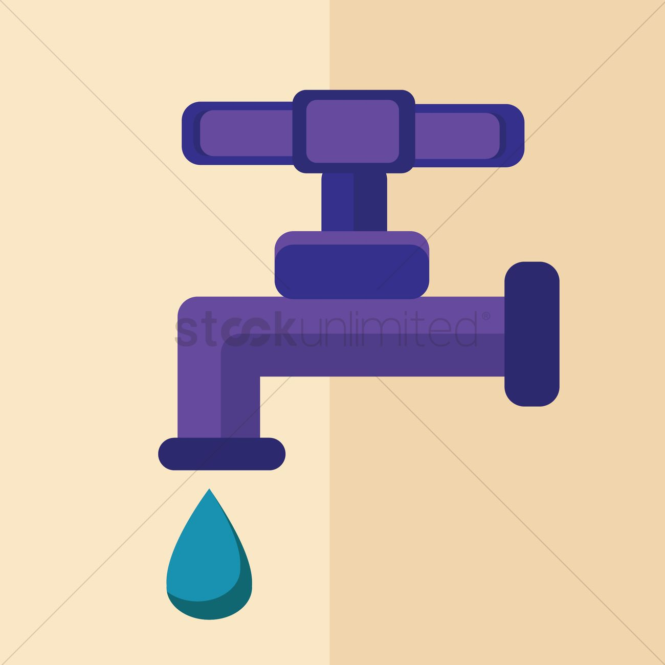 Water faucet Vector Image - 1312902 | StockUnlimited
