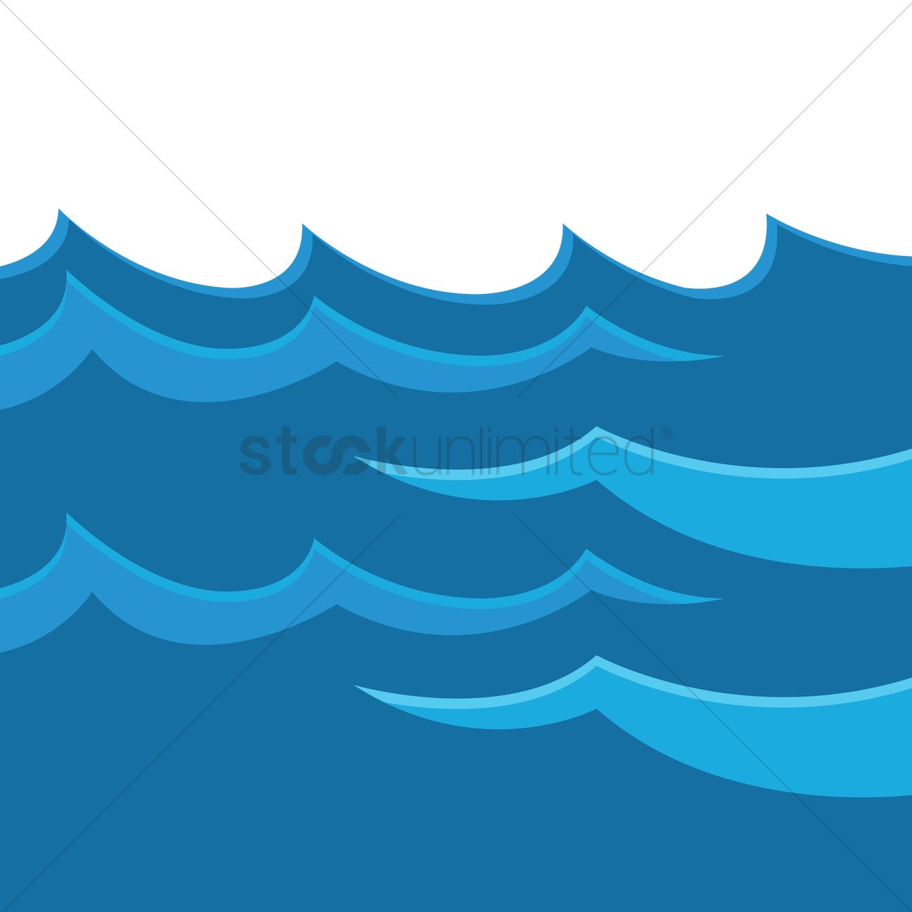 water waves vector image 1526926 stockunlimited rh stockunlimited com Beach Waves Clip Art water waves clipart