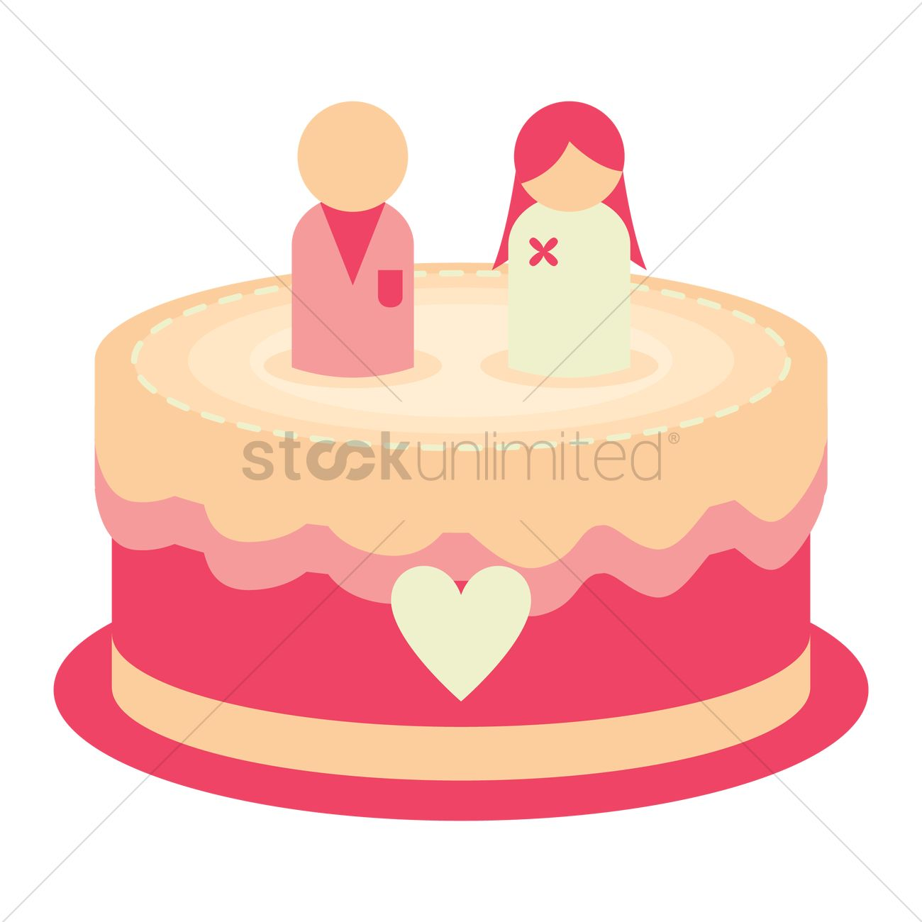 Wedding cake Vector Image - 1324666 | StockUnlimited