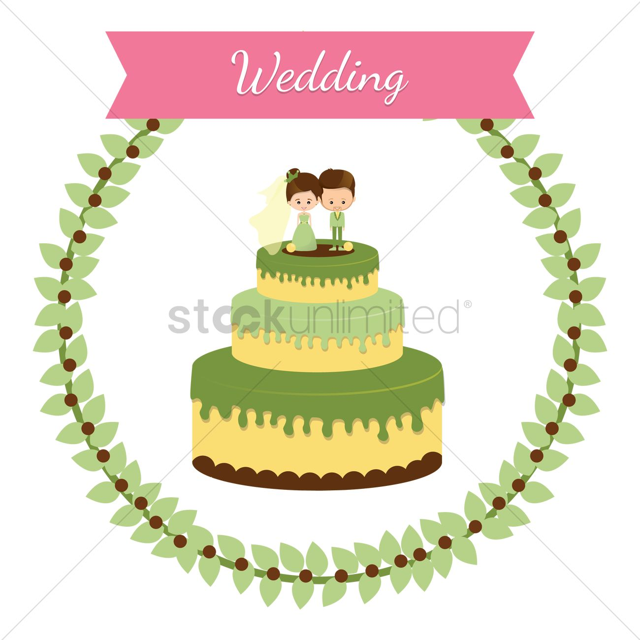 Wedding cake Vector Image - 1349706 | StockUnlimited