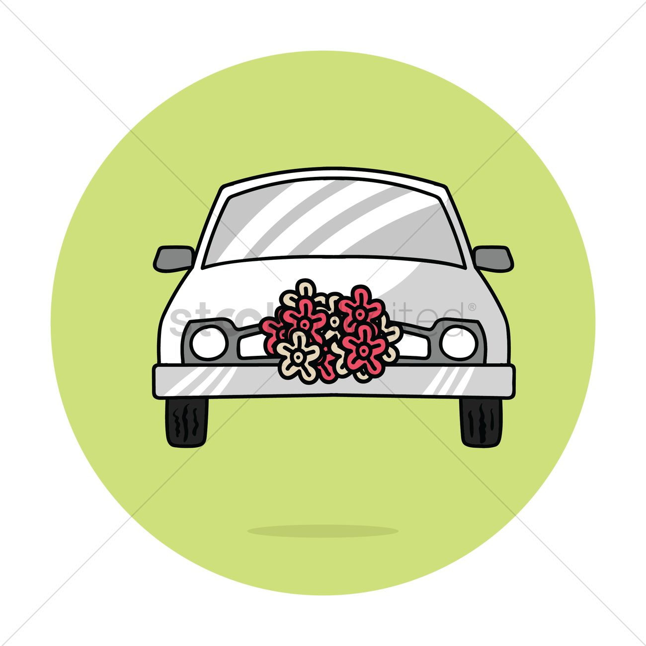 Wedding car decoration vector image 1344354 stockunlimited wedding car decoration vector graphic junglespirit Image collections