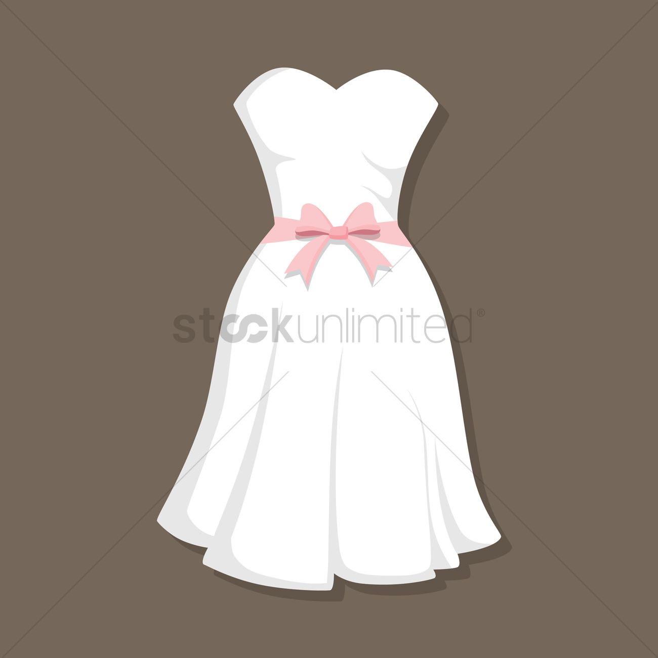 Wedding Gown Vector Image - 1380398