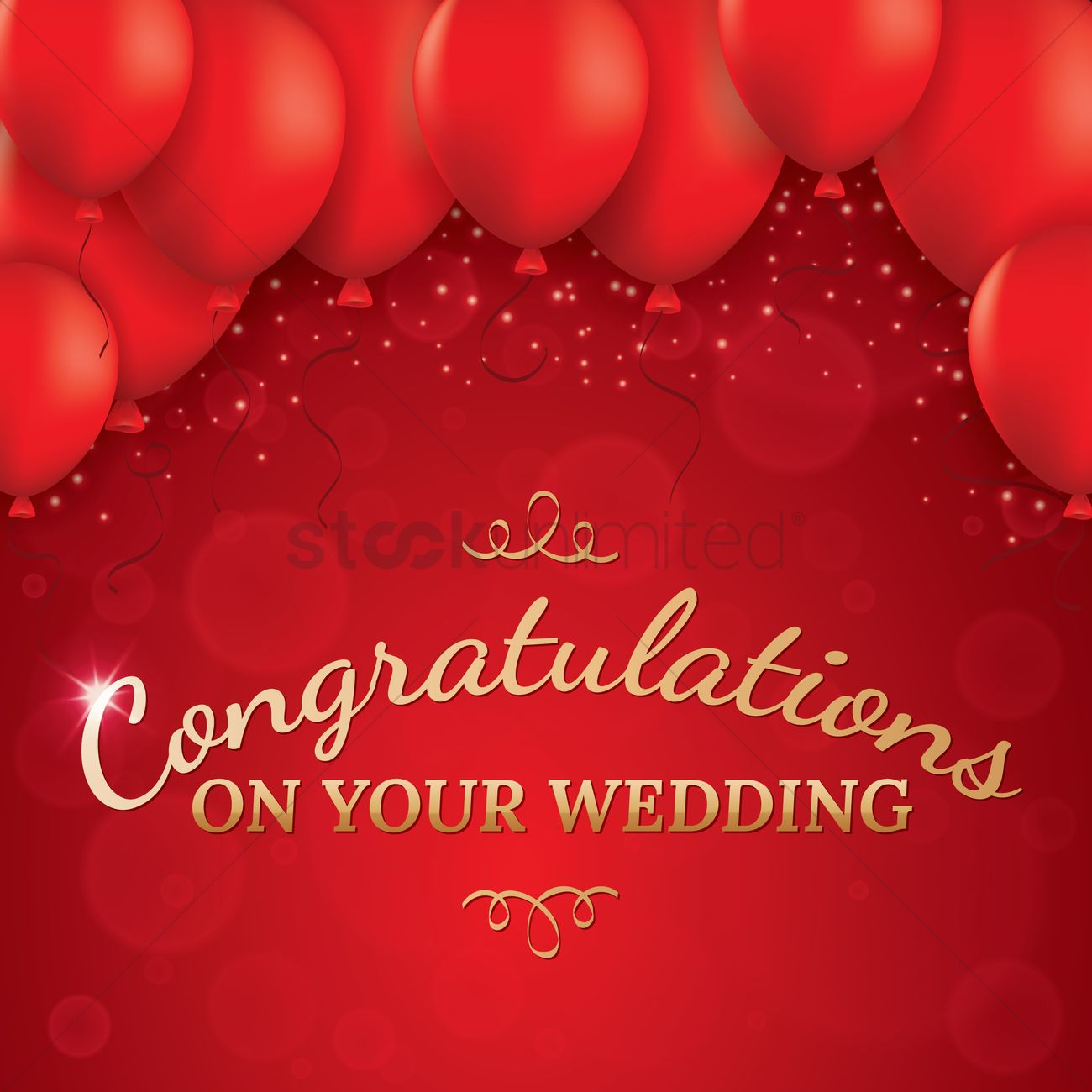 Wedding Greeting Card Vector Image 1610022 Stockunlimited