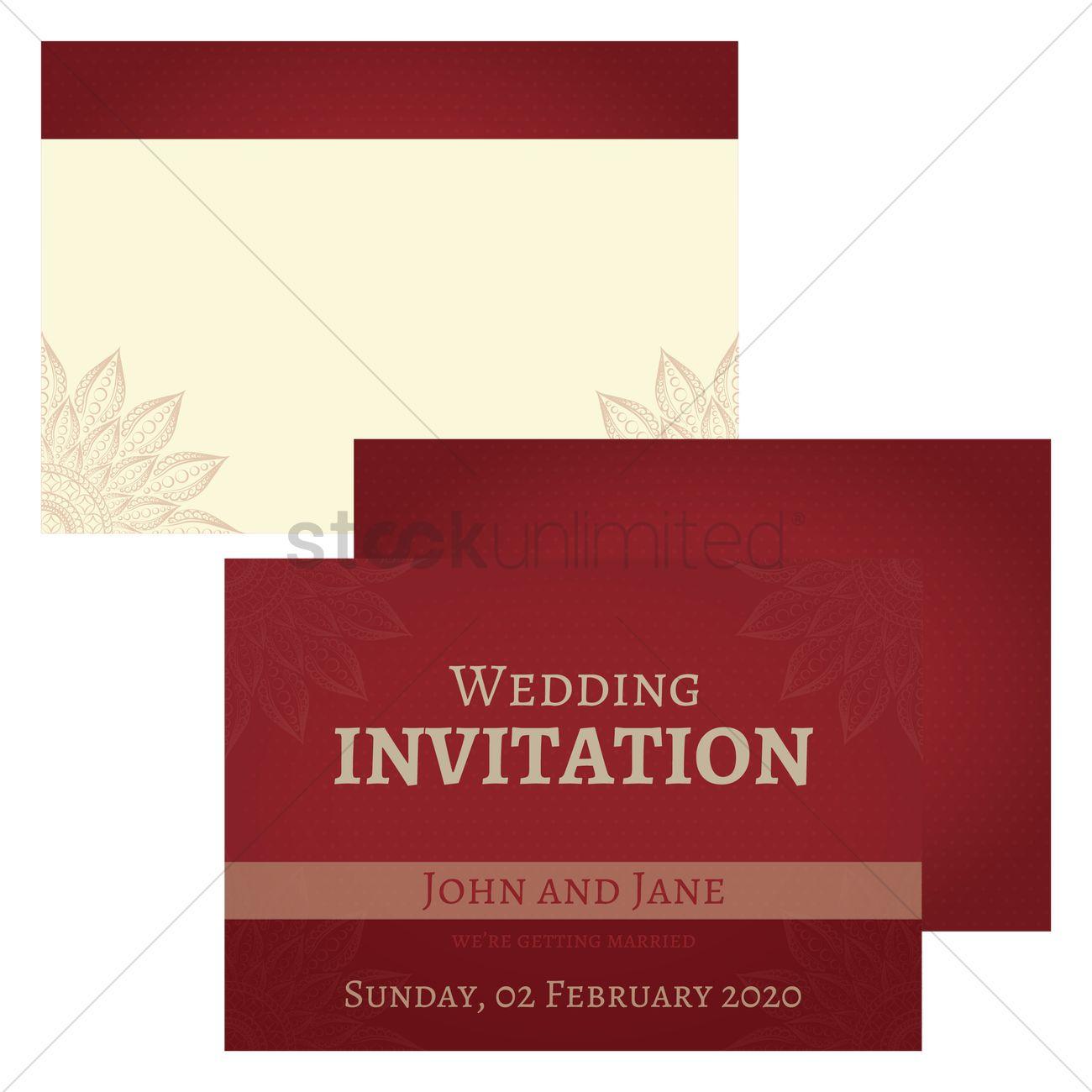 Wedding invitation design Vector Image - 1975938 | StockUnlimited