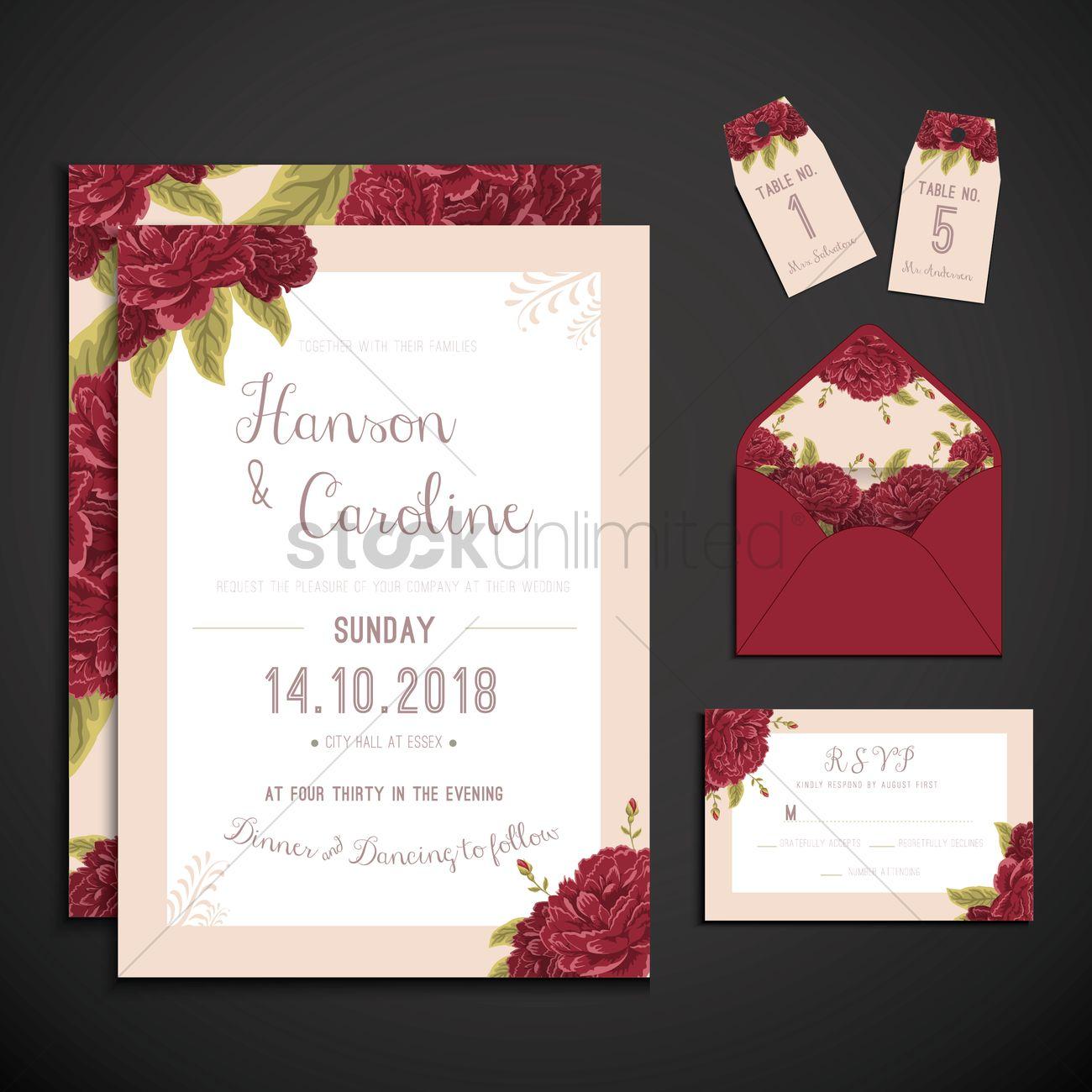 Wedding Invitation Icons Vector Image 1808114 Stockunlimited