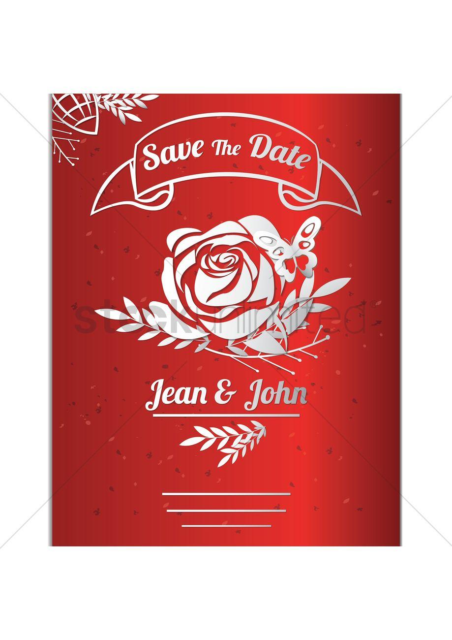 Wedding invitation Vector Image - 1825394 | StockUnlimited