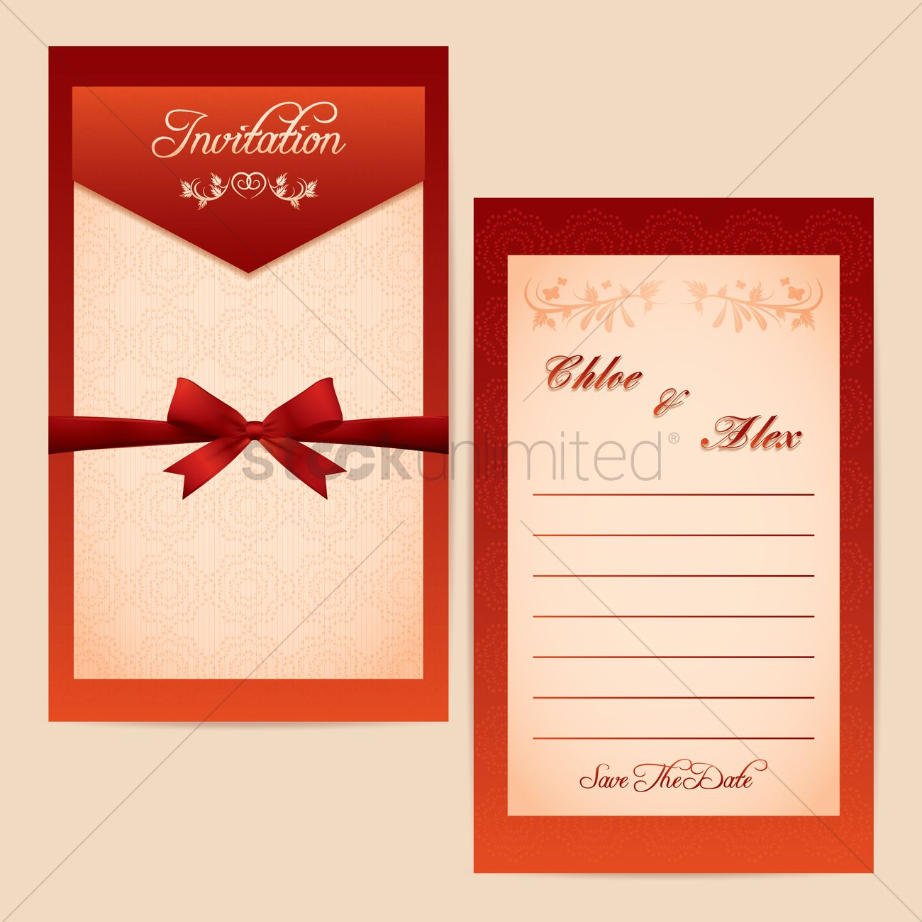 Wedding invitational card design Vector Image - 1996330 | StockUnlimited
