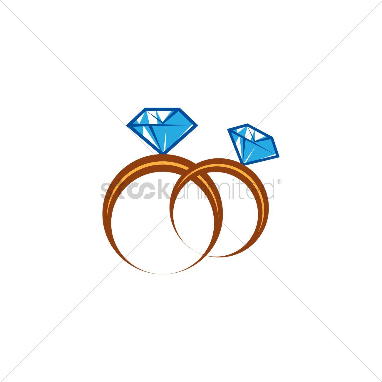 Wedding Rings Vector Image - 2020658