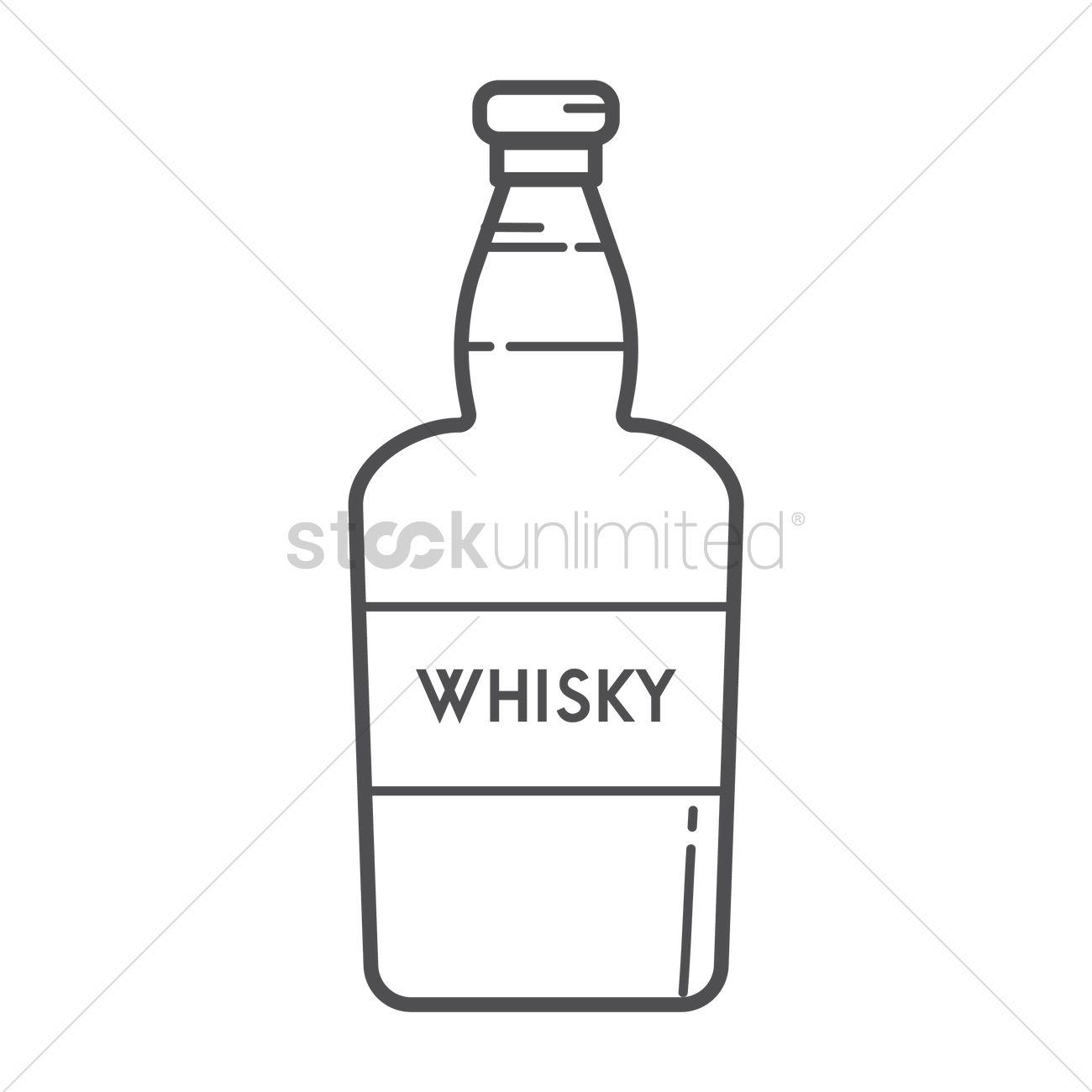 Whisky Bottle Vector Image - 1574802