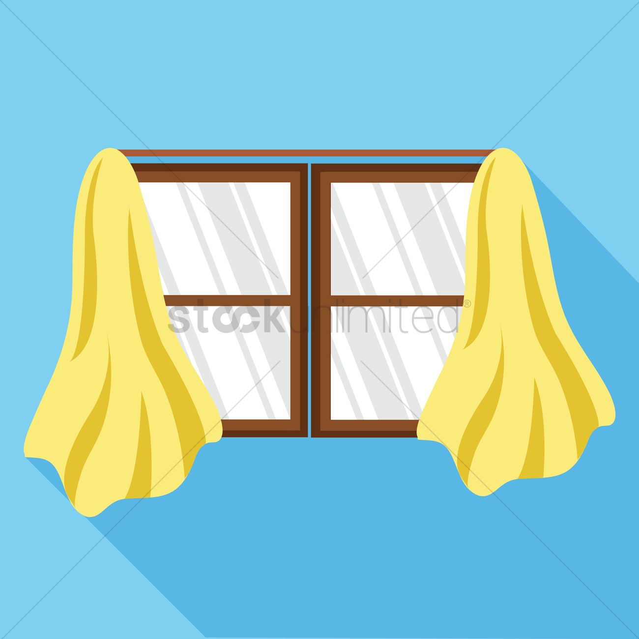 Window and curtains Vector Image - 1406510 | StockUnlimited for Window With Curtains Illustration  303mzq