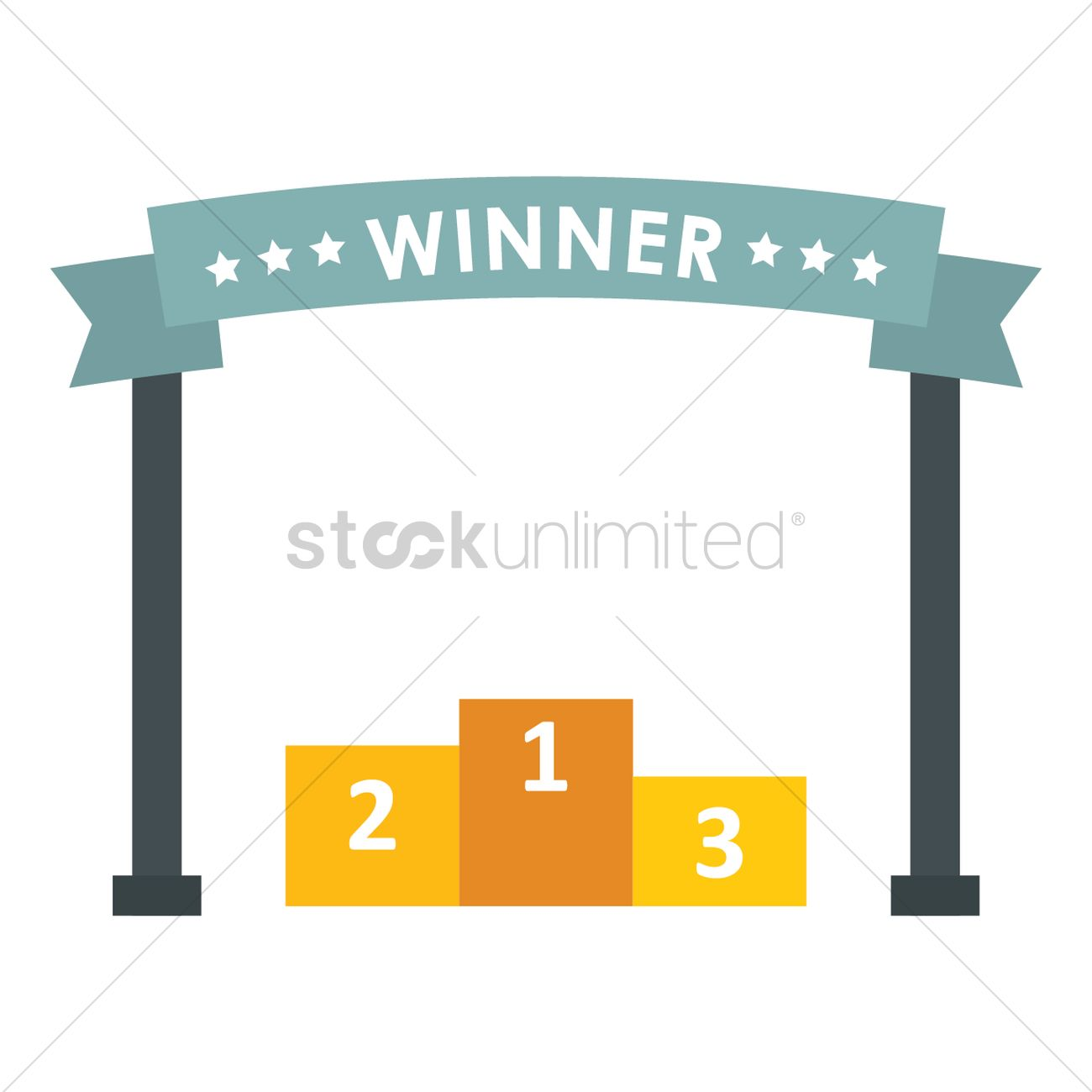winner banner with podium vector image 1448646 stockunlimited