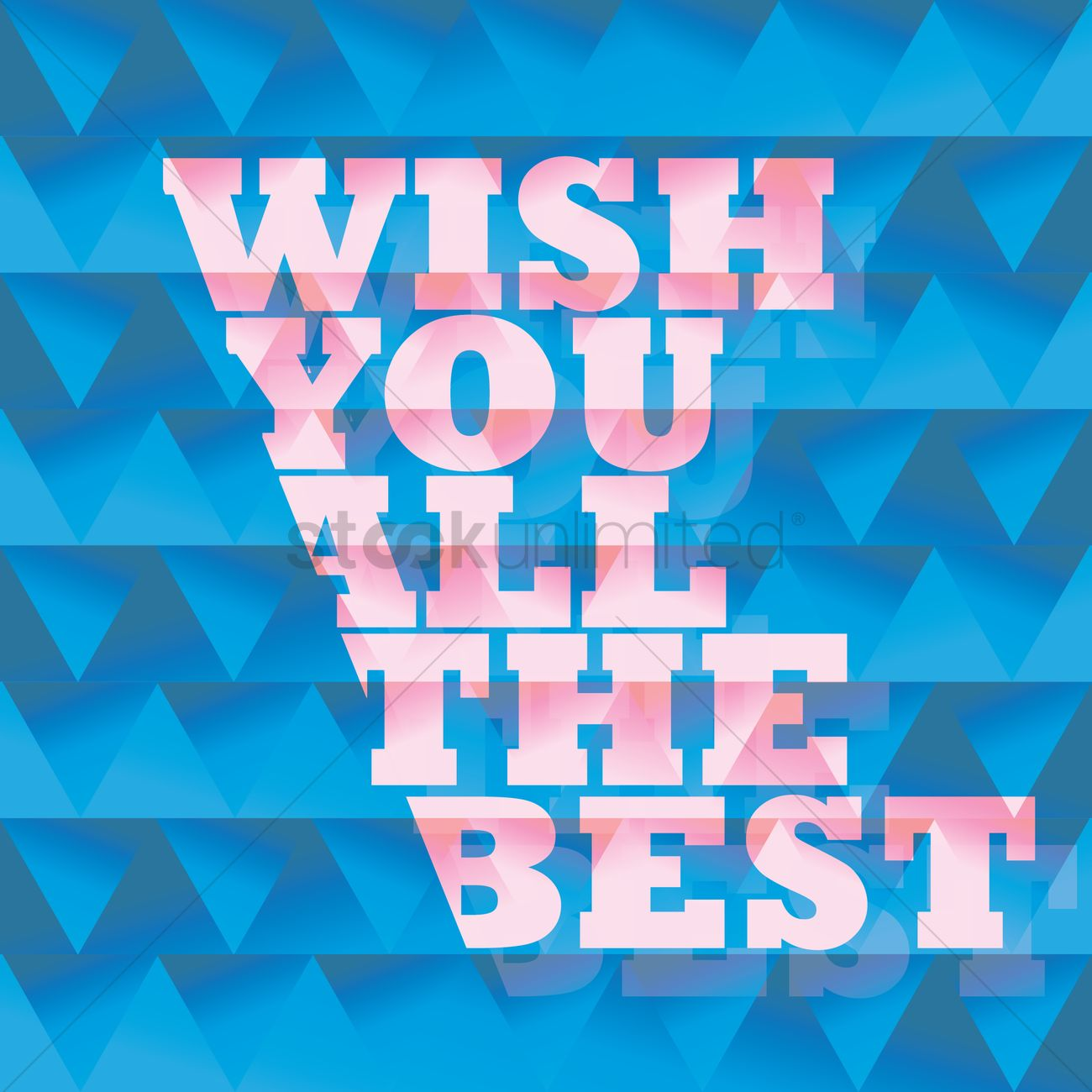 Wish You All The Best Card Vector Graphic