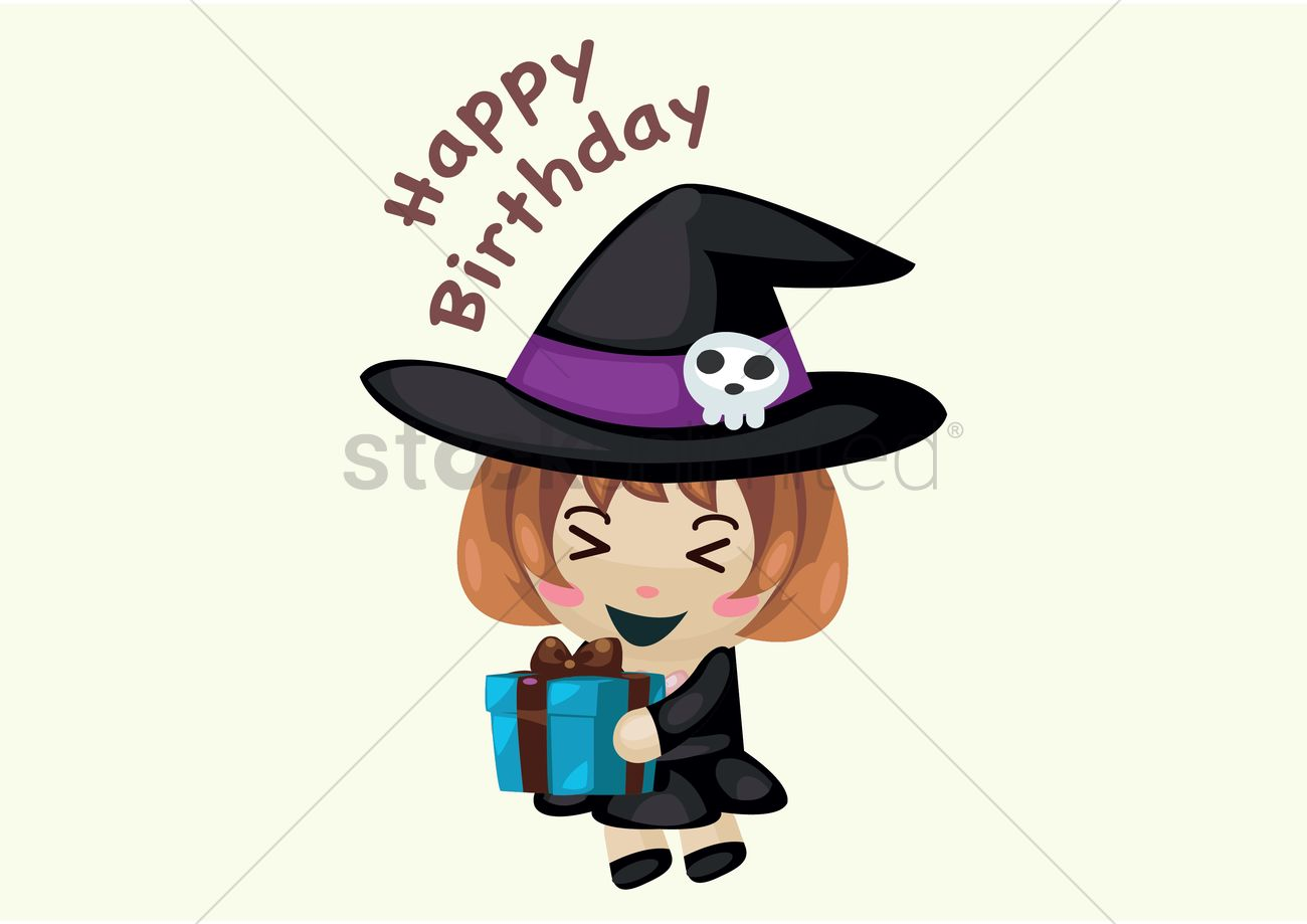 happy birthday witch Witch wishing happy birthday Vector Image   1327370 | StockUnlimited happy birthday witch