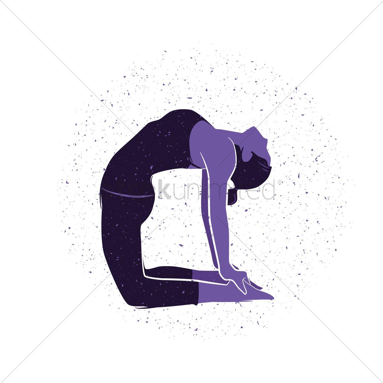 Woman Practising Yoga In Camel Pose Vector Image 1467230