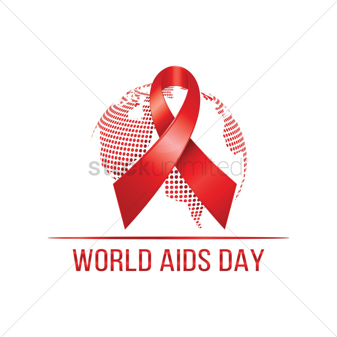 World aids day awareness campaign design Vector Image ...