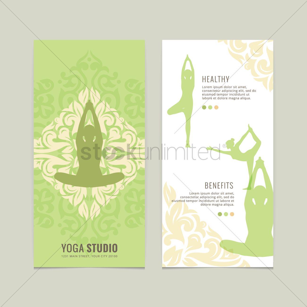 Yoga Studio Flyer Design Vector Graphic