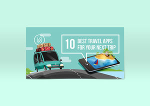 Templates : Travel App Facebook Post Template
