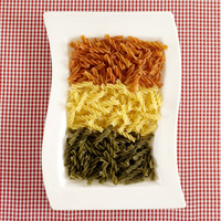 Popular : A plate of colourful pasta