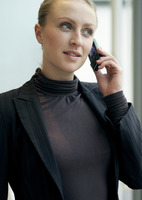 Business lady using cell phone