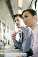 Popular : Business people sitting in the train