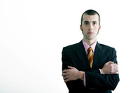 Popular : Businessman looking at the camera