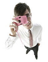 Popular : Businessman taking picture with his camera