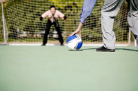Popular : Businessmen playing football