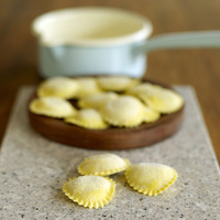 Popular : Close up of a heap of tortellini pasta